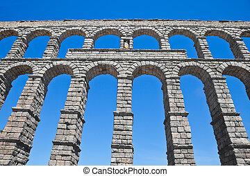 Segovia, ancient aqueduct - Roman aqueduct, built at the end...