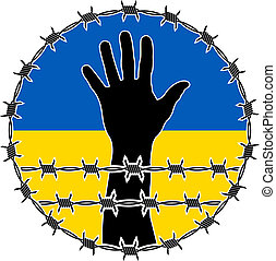 violation of human rights in ukraine. raster version