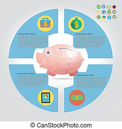 finance infographic element
