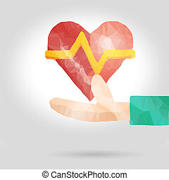 健康, 概念, 愛, 保險, 或者