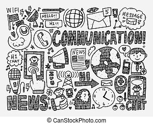 doodle communication background