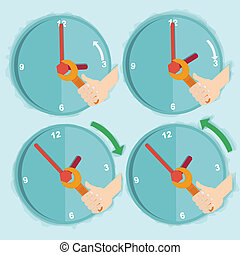 Vector illustration of daylight saving time
