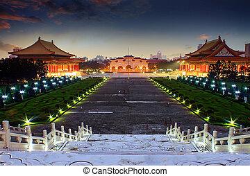 nacional, Taiwán, democracia, cuadrado