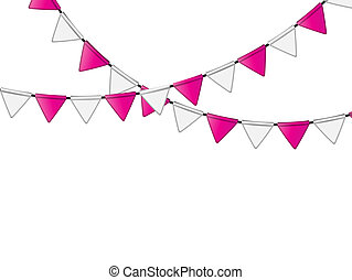 Party Flag Background Vector Illustration. EPS 10