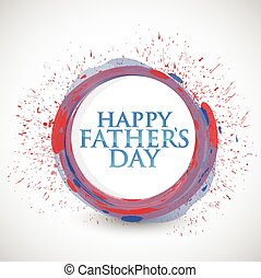 happy fathers day colorful ink
