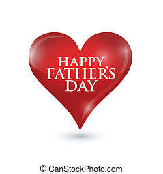 happy fathers day heart illustration design