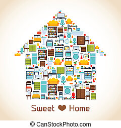 Sweet home concept - Interior furniture sweet home concept...