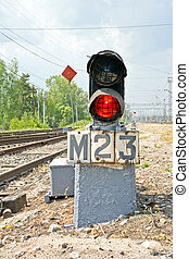 Midget rout traffic-light - Regulative motion of trains...