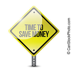 time to save money sign