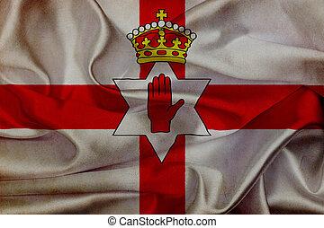 Northern Ireland grunge waving flag