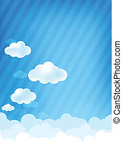 Cloud and blue background 003 - Cloud and blue sky vector...