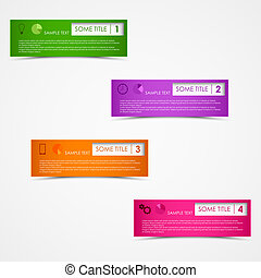 Info graphic rectangular design template vector eps 10