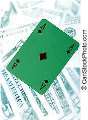 green card - image of card close up