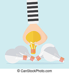 Intellectual property and steal idea concept
