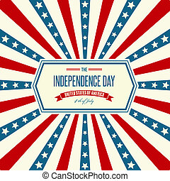 American Independence Day Patriotic background. Vector...
