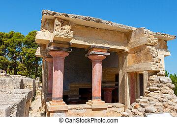 Lustral, bacia, Palácio, Knossos, crete,...