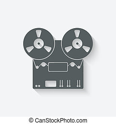tape recorder icon - vector illustration eps 10