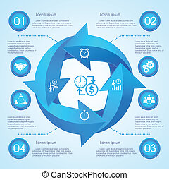 Circle arrow infographic - Circle arrow business infographic...