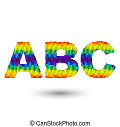 triangular letters abc