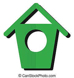 Birdhouse - a clean and simple birdhouse illustration