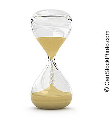 hourglass, sandglass, sand timer, sand clock isolated
