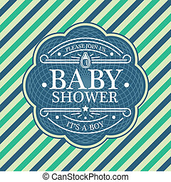 Baby Shower Invitation Card - Blue baby shower invitation...