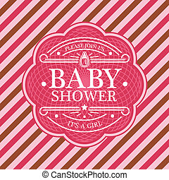 Baby Shower Invitation Card - Pink baby shower invitation...