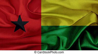 Guinea-Bissau grunge waving flag