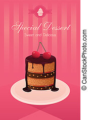 Dessert poster - A vector illustration dessert poster design