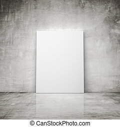blank poster - concrete room with blank poster