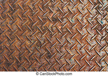 metal diamond plate - Background of metal diamond plate.