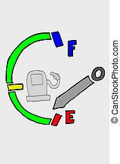 sketchy fuel meter