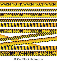 Danger design over white background, vector illustration