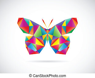 Vector image of an butterfly design on white background