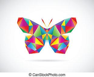 vector, imagen, mariposa, diseño