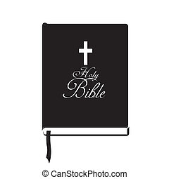 Holy bible design over white background, vector illustration