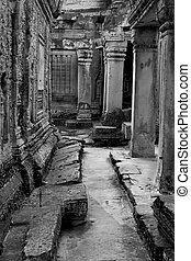 Angkor temple ruins  - Shot at a temple in Angkor, Cambodia