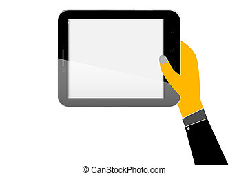 Hand - Hold a Tablet