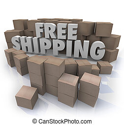 Free Shipping Cardboard Boxes Packages Orders Delivery