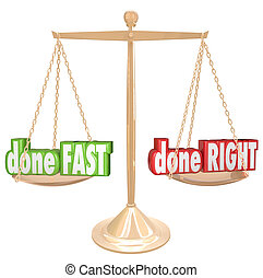 Done Fast Vs Right Scale Balance Weighing Rush Option - Done...