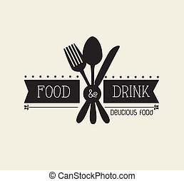 Restaurant design over beige background,vector illustration