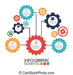 Infographic design over white background,vector illustration