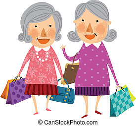 The view of old women - The view of two old women is...