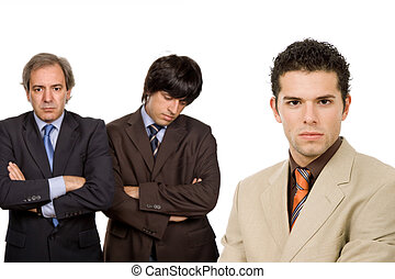 business - three business men isolated on white background,...