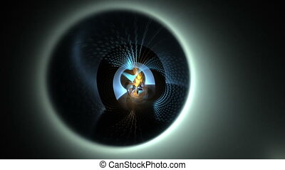 Distant Rotating Energy Sphere - Distant dynamic energy...