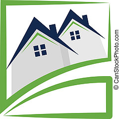 Houses real estate logo - Houses real estate logo vector...