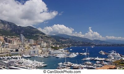 Monaco harbor - Panoramic time-lapse
