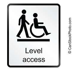 Level Access Information Sign - Monochrome level access...