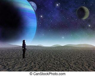 Alien Planet sci-fi scene Artists Rendition - Alien planet A...