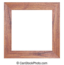 Wooden photo frames isolated. - Wooden photo frames isolated...